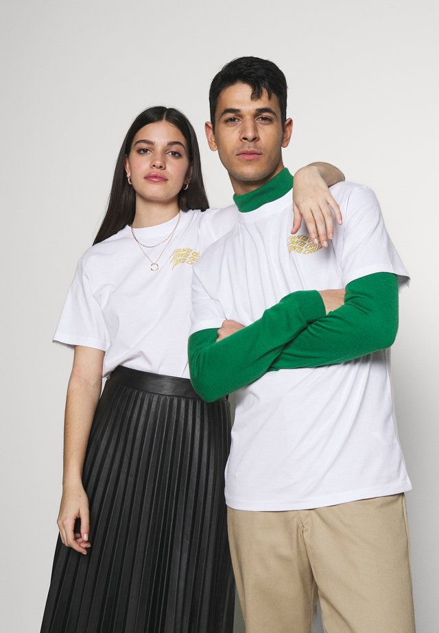 UNISEX VORTEX HAND - T-shirts print - white
