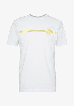 OPUS DOT STRIPE  - T-shirt z nadrukiem - white