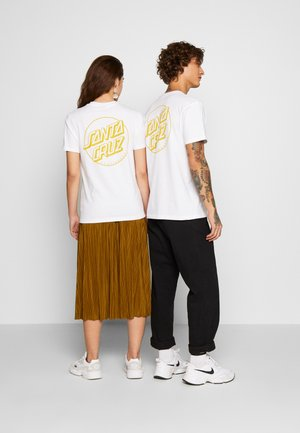 OPUS DOT STRIPE  - T-shirt print - white