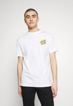 SANTA CRUZ UNISEX MOON DOT - T-shirt med print - white
