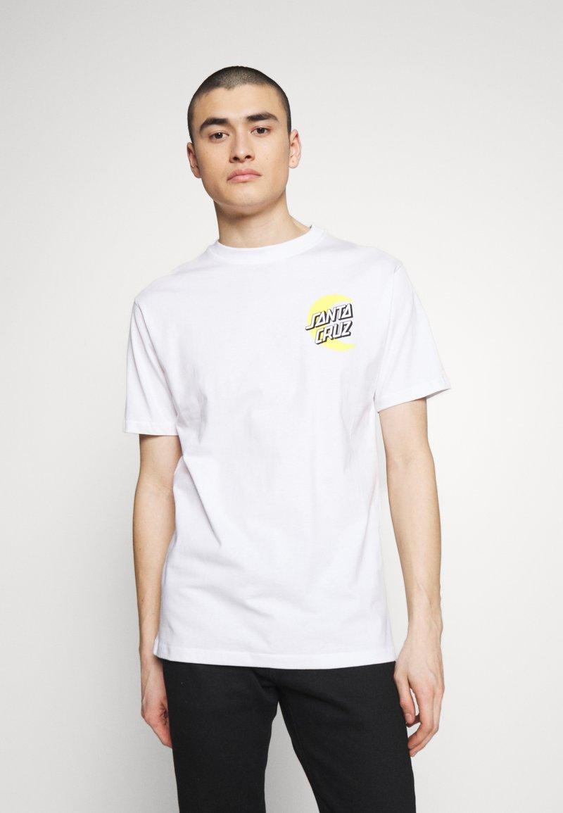 Santa Cruz - SANTA CRUZ UNISEX MOON DOT - T-Shirt print - white