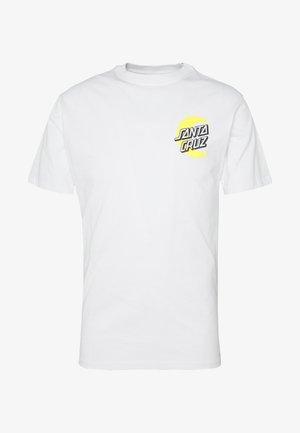 SANTA CRUZ UNISEX MOON DOT - T-Shirt print - white