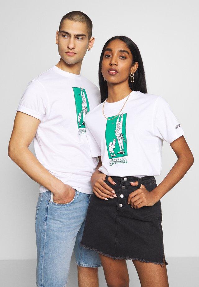 SANTA CRUZ UNISEX DRESSEN STICK  - T-shirts print - white