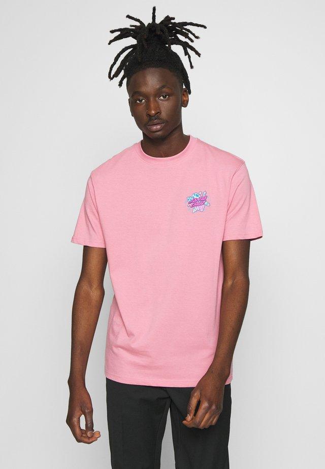 SANTA CRUZ UNISEX CRYSTAL HANDIN  - T-shirt med print - rose pink