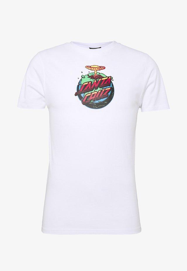 unisex Doom dot - T-shirts med print - white