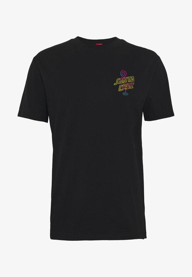 unisex Glow dot - T-shirts med print - black