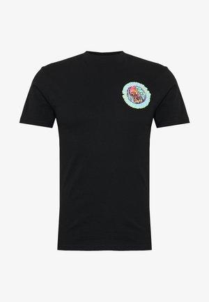 unisex Smoke signal - Print T-shirt - black