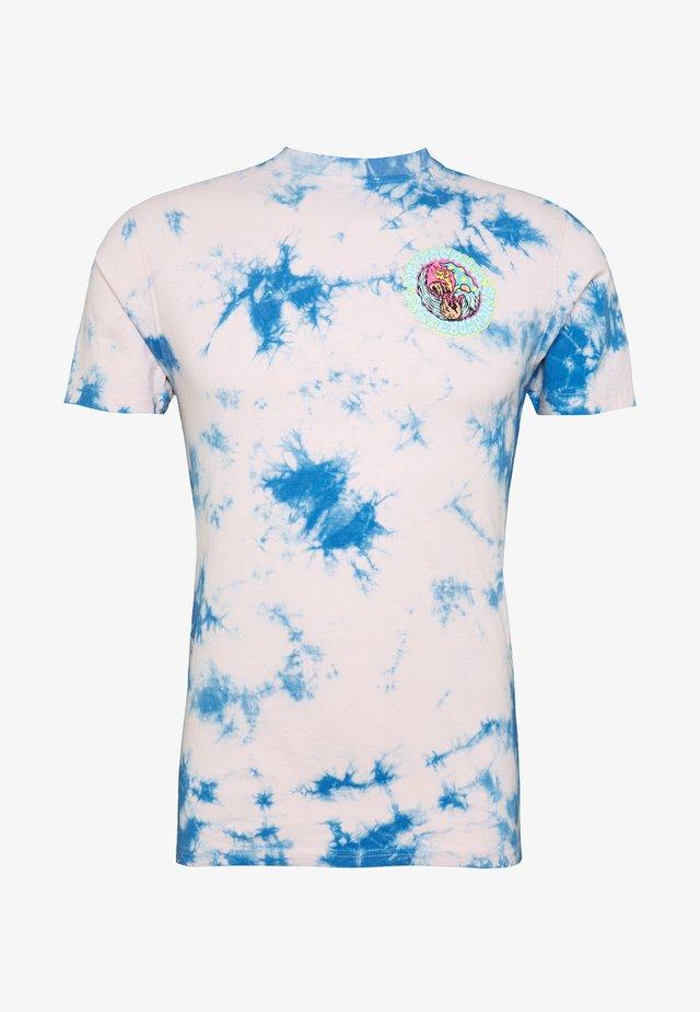 unisex Smoke signal - Triko spotiskem - pink/blue