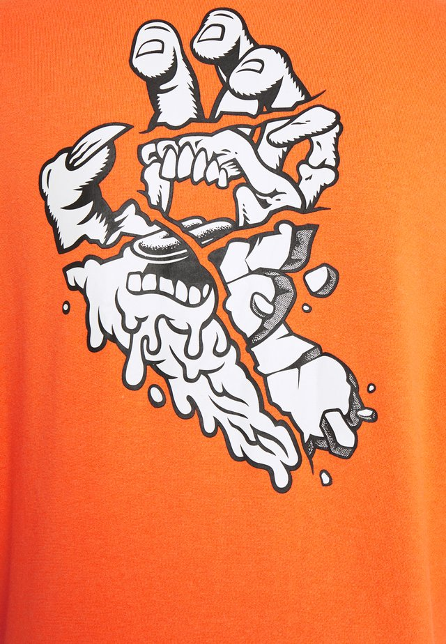 UNISEX UNIVERSAL HAND HOODIE - Mikina skapucí - fluro orange