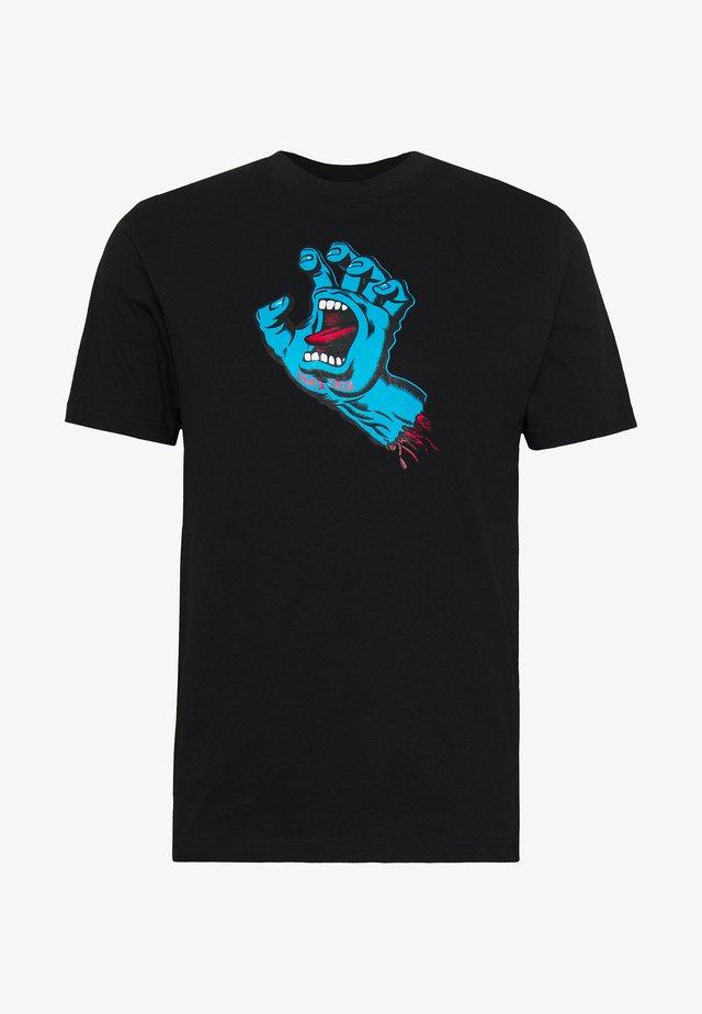 unisex Screaming hand - T-shirts med print - black