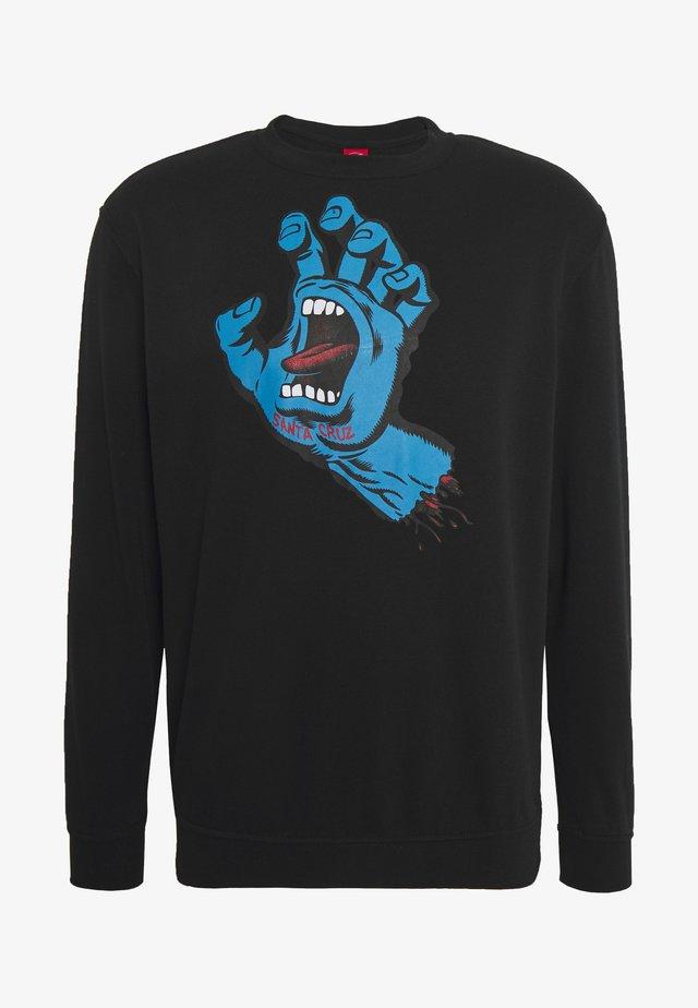 unisex Screaming hand - Sweatshirt - black
