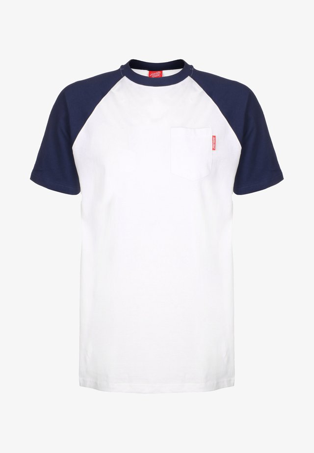 OPUS DOT CUT & SEW - T-shirt imprimé - dark navy/white