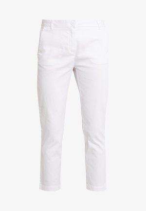 TEXTURED LIGHT - Chino kalhoty - white