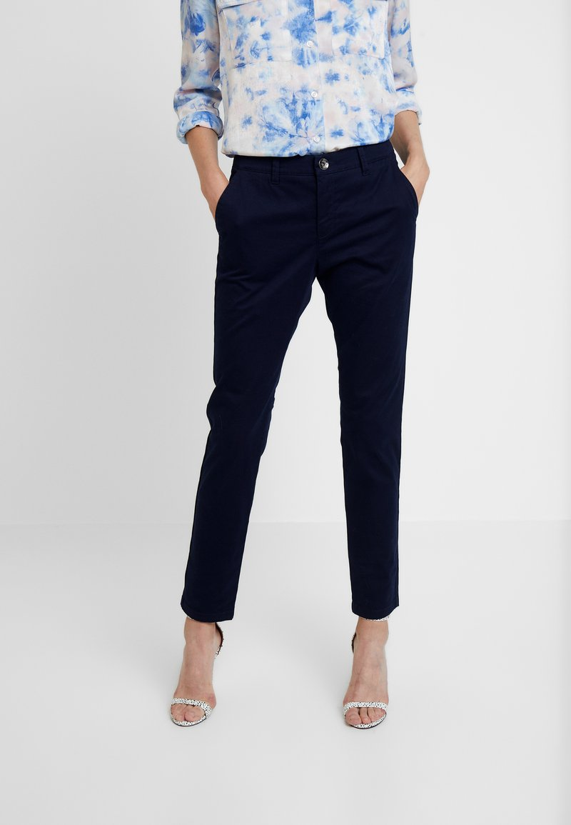 Sisley - TROUSERS - Trousers - dark blue