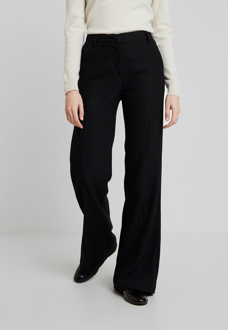 Sisley - TROUSERS - Stoffhose - black