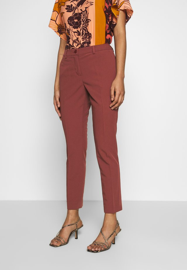 TROUSERS - Stoffhose - bordeaux