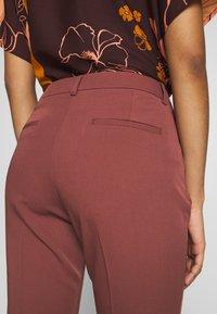 Sisley - TROUSERS - Pantaloni - bordeaux - 3