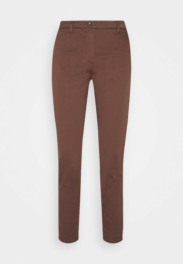 TROUSERS - Chinos - brown