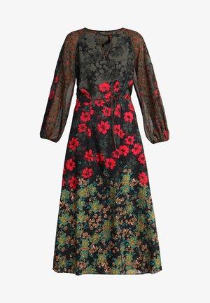 MIXED FLORAL PRINT DRESS - Maxi-jurk - multi-coloured