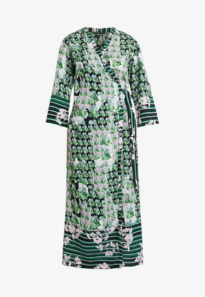 ORIENTAL KIMONO WRAP DRESS - Vestito lungo - green leaf