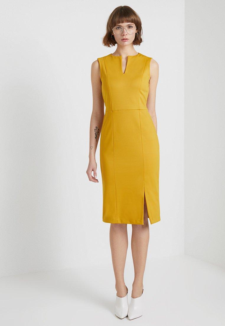 Sisley - PONTE BUSINESS SHIFT - Shift dress - yellow