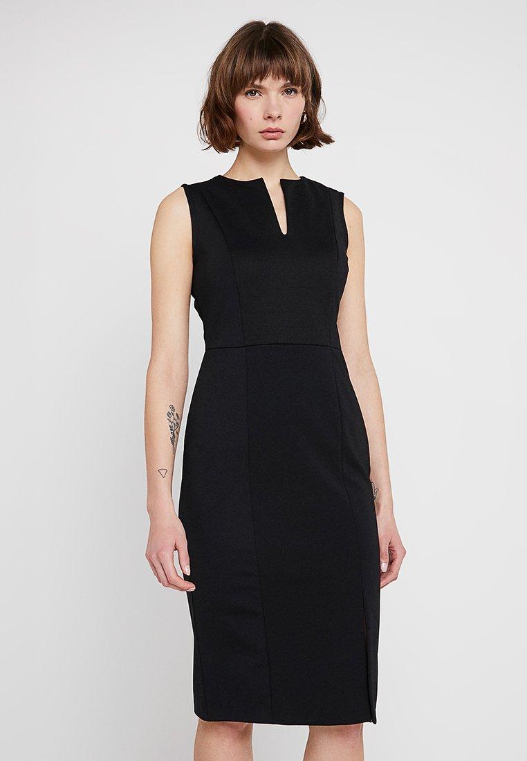 Sisley - PONTE BUSINESS SHIFT - Shift dress - black