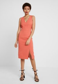 Sisley - MIX SHIFT DRESS - Tubino - red - 0