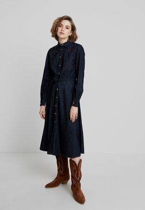 DRESS - Denim dress - blue