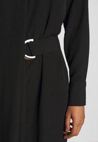 Sisley - DRESS - Skjortekjole - black - 5