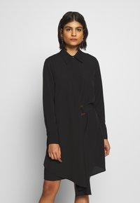 Sisley - DRESS - Skjortekjole - black - 0