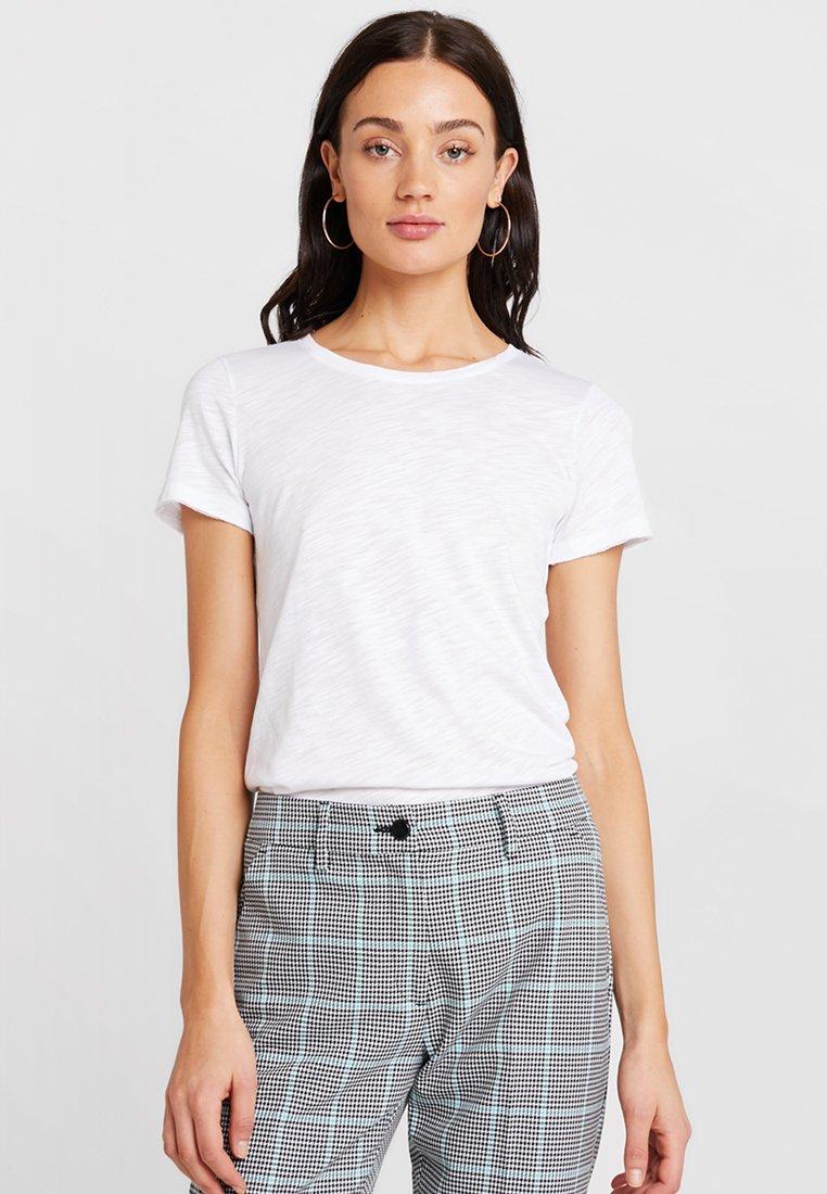 Sisley - ROUND NECK - T-shirts basic - white