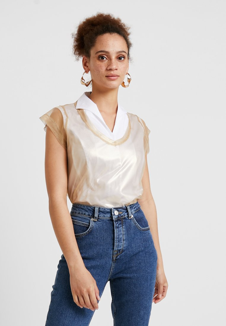 Sisley - TEE - T-shirt imprimé - gold