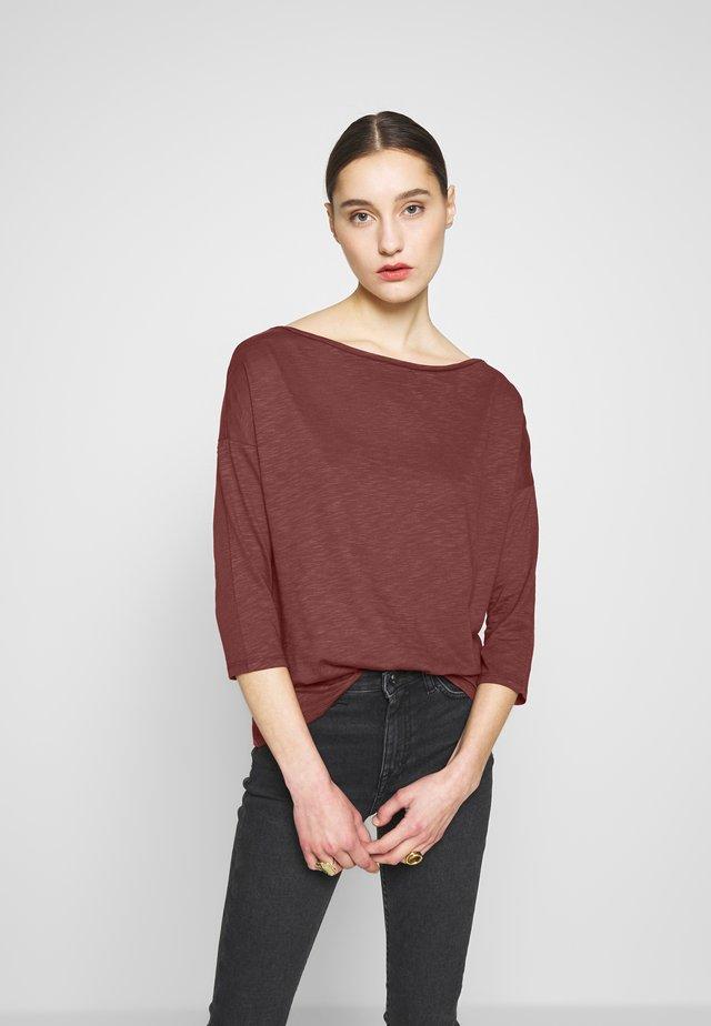 Long sleeved top - bordeaux