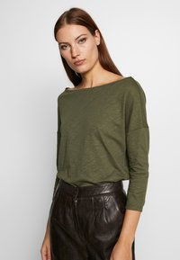 Sisley - Long sleeved top - khaki - 2