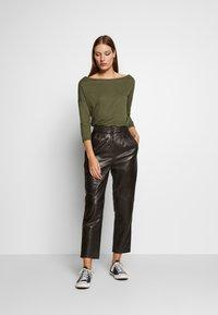 Sisley - Long sleeved top - khaki - 1