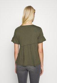 Sisley - T-shirts med print - khaki - 2