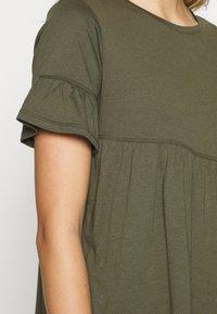 Sisley - T-shirts med print - khaki - 4