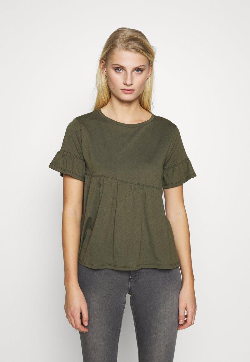 Sisley - T-shirts med print - khaki
