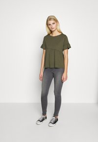 Sisley - T-shirts med print - khaki - 1