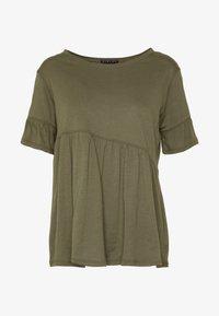 Sisley - T-shirts med print - khaki - 3