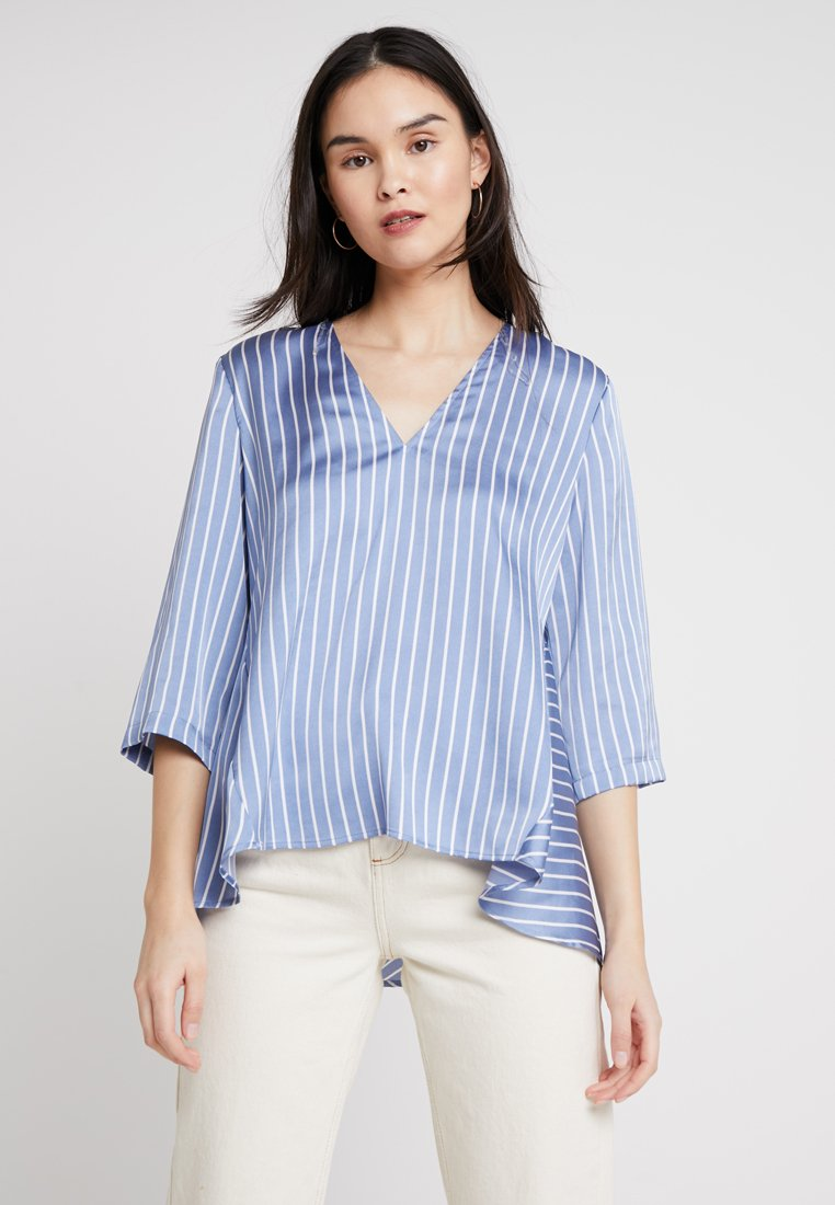 Sisley - STRIPED LONGLINE - Bluse - blue