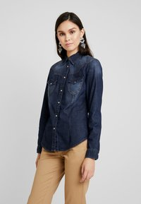 Sisley - Overhemdblouse - black denim - 0