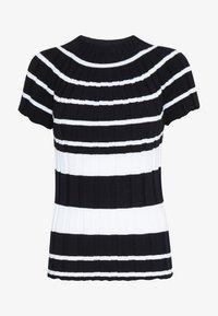 Sisley - T-shirt con stampa - black - 3