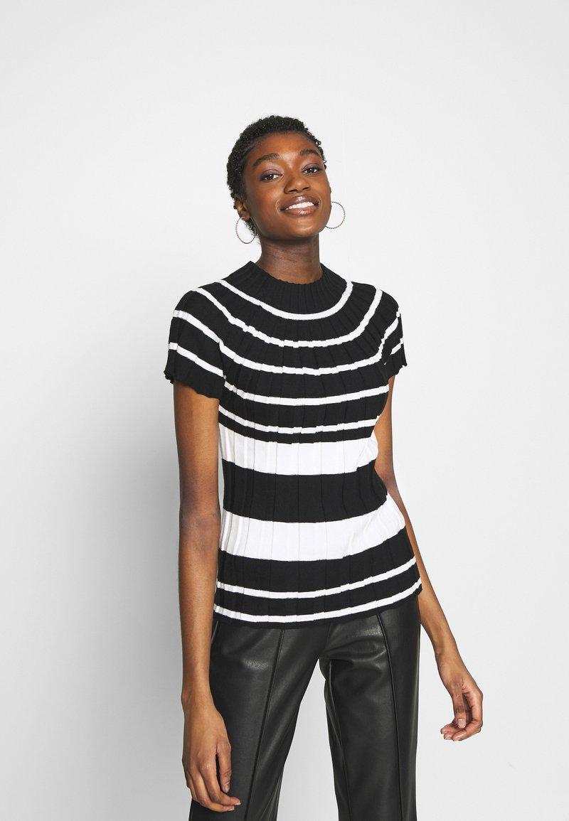 Sisley - T-shirt con stampa - black