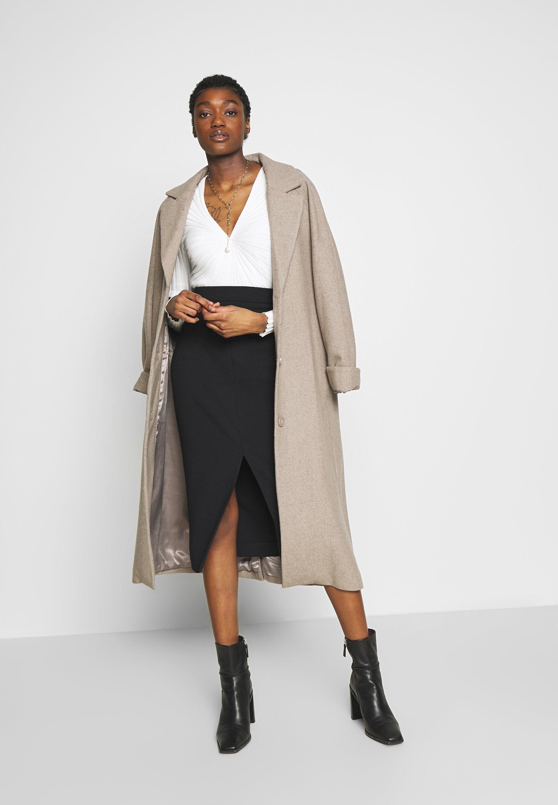 Sisley V NECK Pullover white ZALANDO.FR