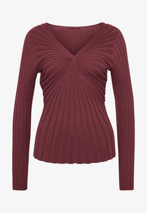 V NECK - Strikkegenser - bordeaux