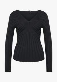 Sisley - V NECK - Strikkegenser - black - 4