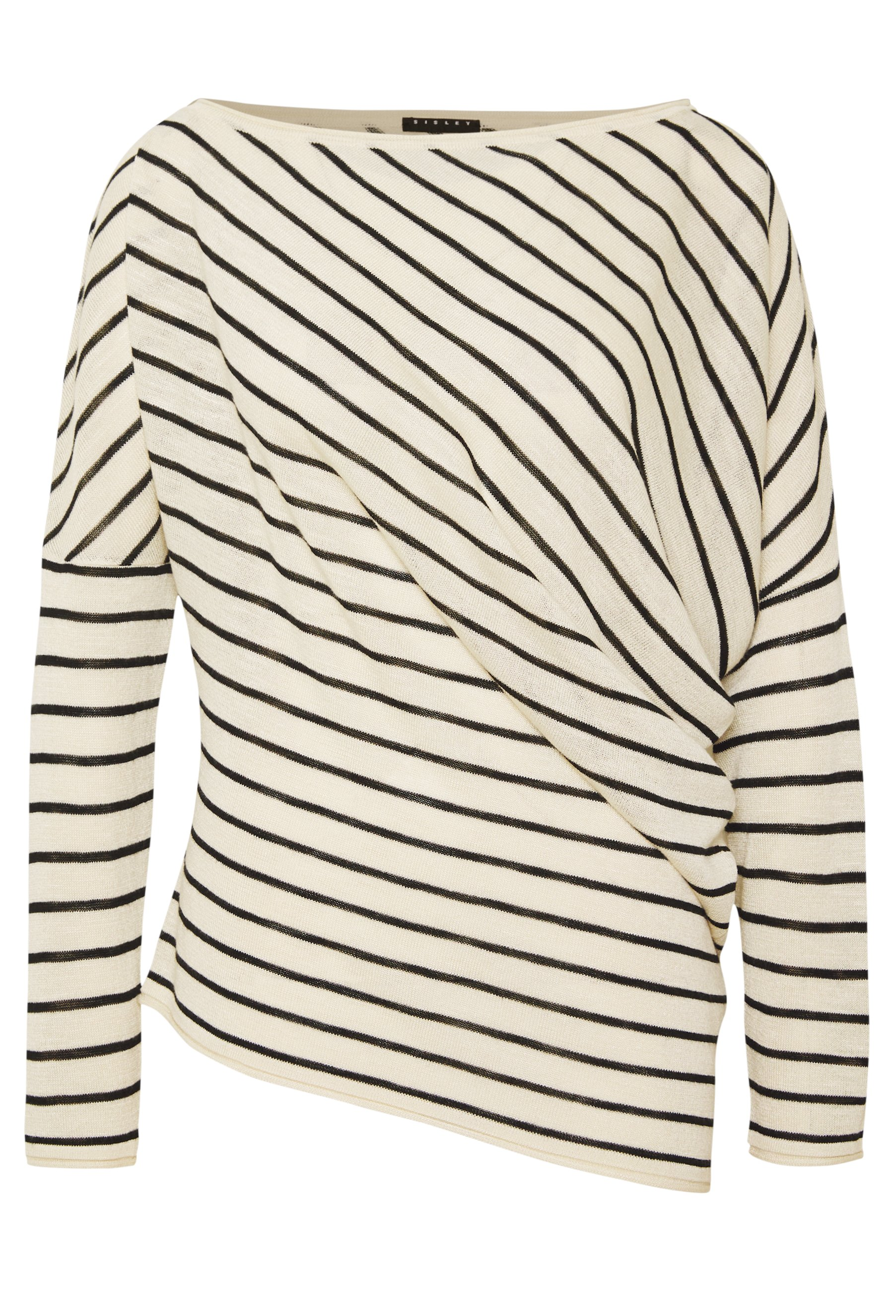 Sisley SWEATER - Sweter - white/black