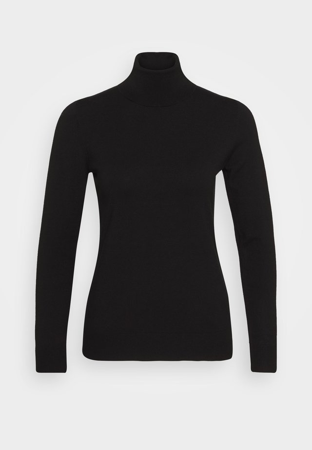 TURTLE NECK - Strikkegenser - black