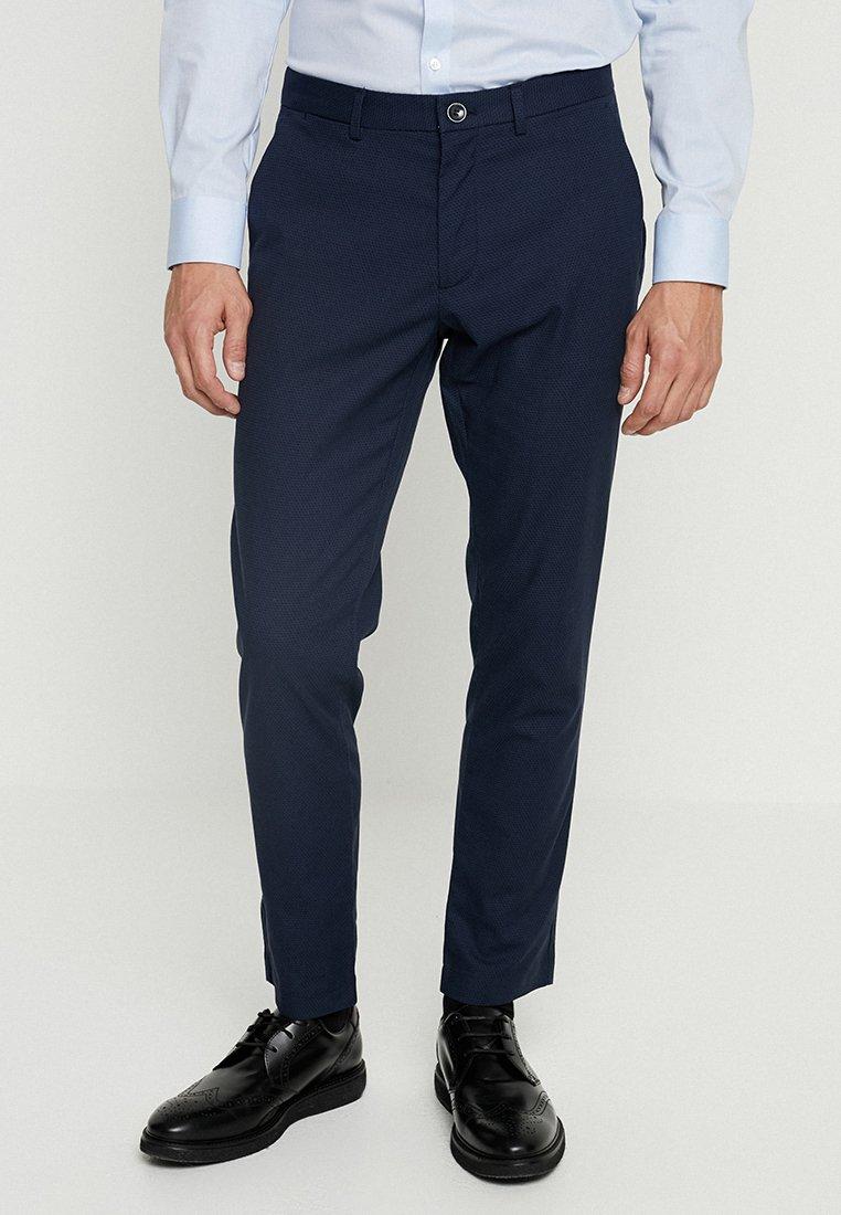 Sisley - SLIM FIT - Suit trousers - navy